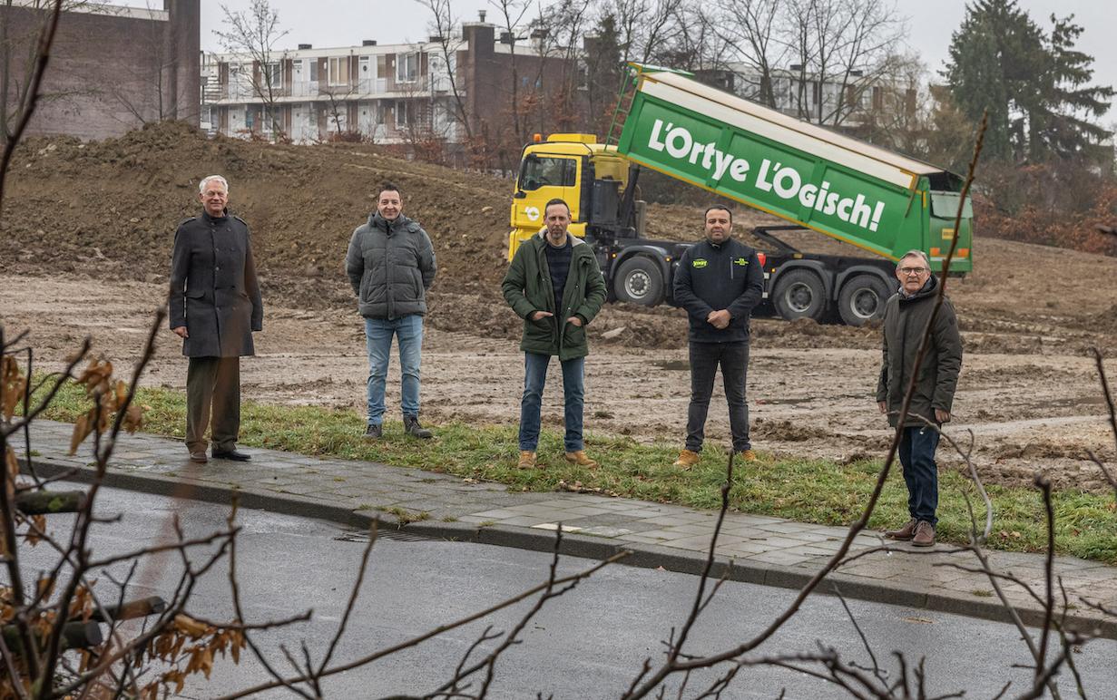 Bedrijf en buurt realiseren samen nieuw park in Hoensbroek
